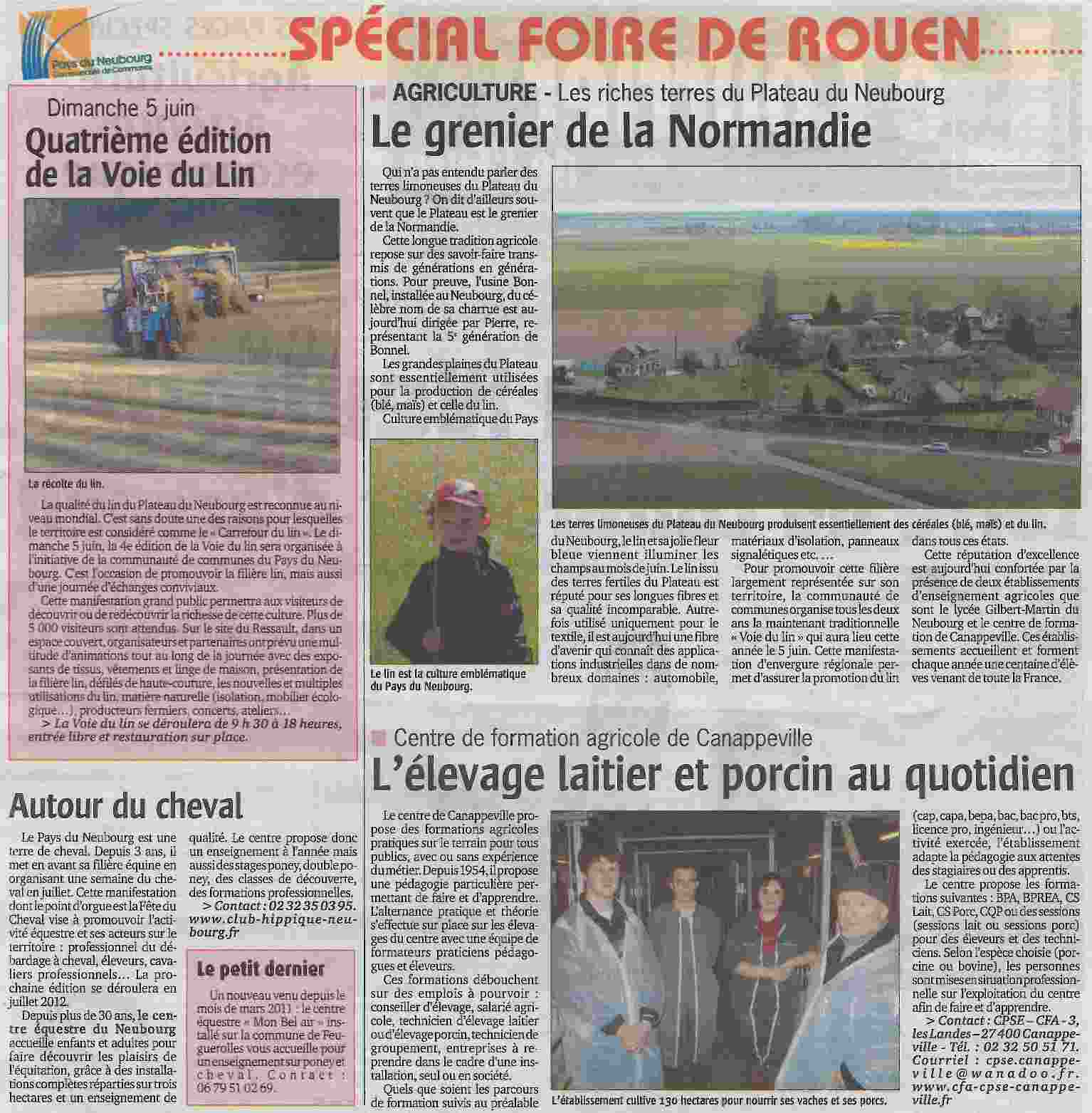 Courrier de l'Eure (30 mars 2011)